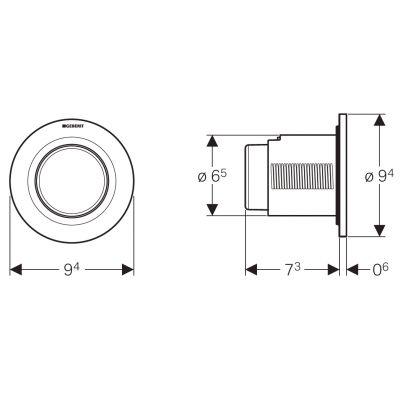 Przycisk spłukujący do wc 116041211 Geberit Typ 01
