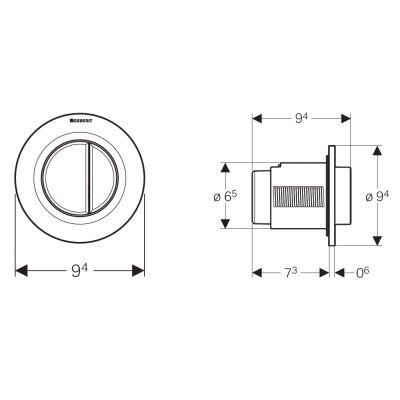 Przycisk spłukujący do wc 116044111 Geberit Typ 01