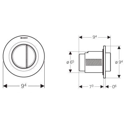 Przycisk spłukujący do wc 116045111 Geberit Typ 01
