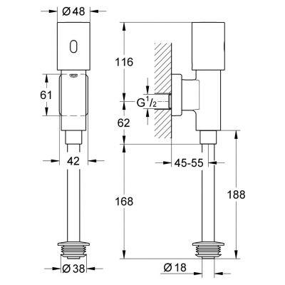 Elektronika na podczerwień do pisuaru 37421000 Grohe Tectron