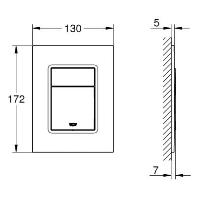 Przycisk spłukujący do wc 37535P00 Grohe Skate Cosmopolitan S