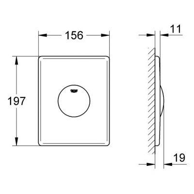 Przycisk spłukujący do WC Skate Grohe 37547 P00 chrom mat
