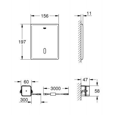 Przycisk spłukujący do wc 38393SD1 Grohe Tectron