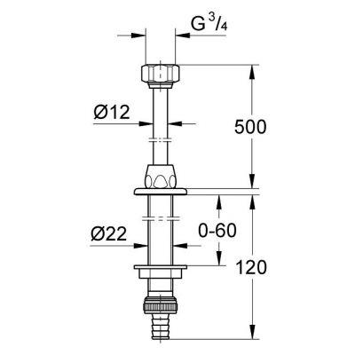 Element systemu montażowego 41130000 Grohe Was