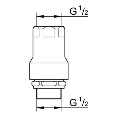 Element dodatkowy baterii 41230000 Grohe Was