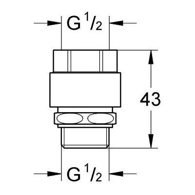 Element dodatkowy baterii 41238000 Grohe Was