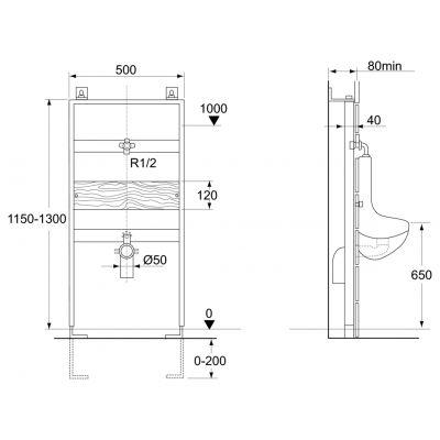 Stelaż podtynkowy VV715602 Ideal Standard