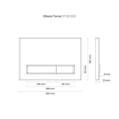 Przycisk spłukujący do wc 57101200 Oltens Torne