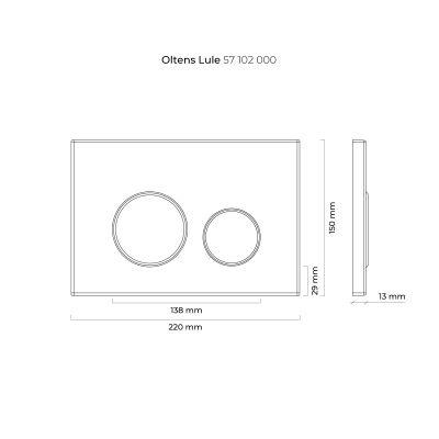 Przycisk spłukujący do wc 57102000 Oltens Lule