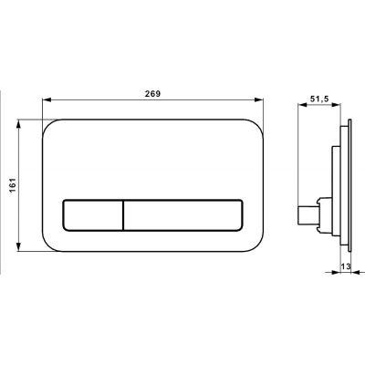 Przycisk spłukujący do wc 921843RB Villeroy & Boch ViConnect