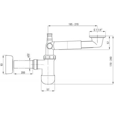 Syfon do umywalki NHC633K Deante Space Saver