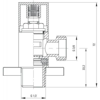 Zawór ścienny kątowy VFAB62S Deante