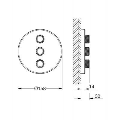 Zawór podtynkowy 29152LS0 Grohe Grohtherm SmartControl