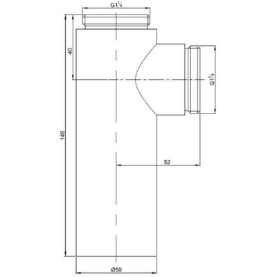 Syfon do umywalki butelkowy chrom E0079AA Ideal Standard