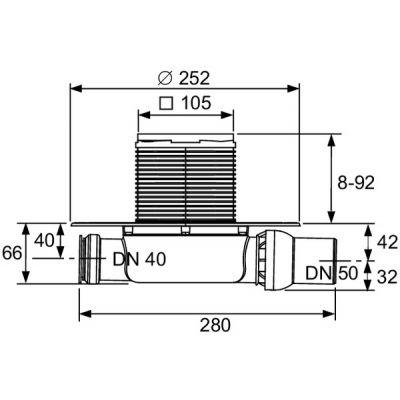 Syfon 3601100 Tece Drainpoint S