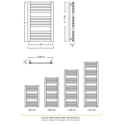 Grzejnik łazienkowy 57.7x88.3 cm MAK6090 Instal Projekt Makao