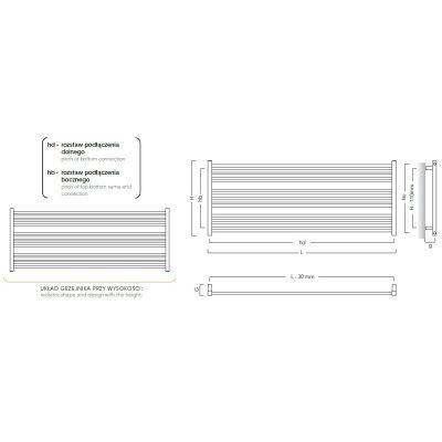 Grzejnik łazienkowy 80x55.5 cm STIL8060ZN Instal Projekt Stick Level