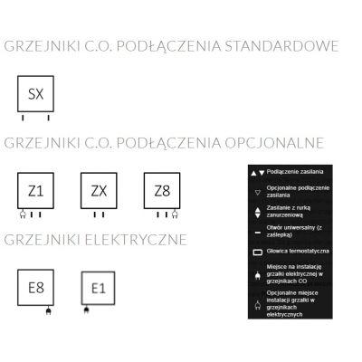 Grzejnik łazienkowy 53.6x114 cm WGLEN114053K916SX Terma Lena