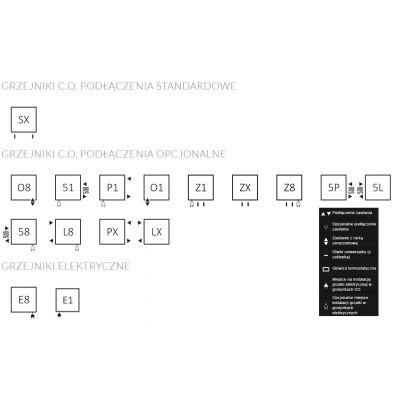 Grzejnik łazienkowy 43x138 cm WGFIN138043K916SX Terma Fiona