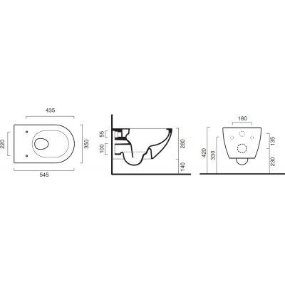 Miska WC wisząca 1VSF54RBM Catalano Sfera