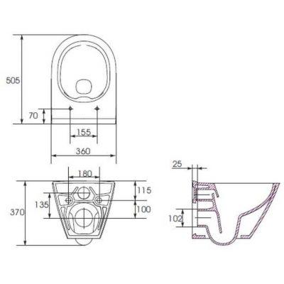 Miska WC wisząca K35025 Cersanit City
