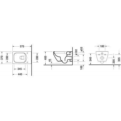 Miska WC wisząca 2525090000 Duravit Vero Air