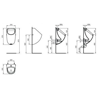 Pisuar E567201 Ideal Standard Connect