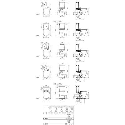 Miska WC stojąca E039701 Ideal Standard Connect