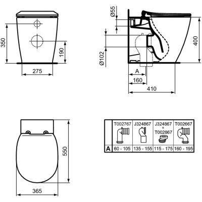 Miska WC stojąca E052401 Ideal Standard Connect