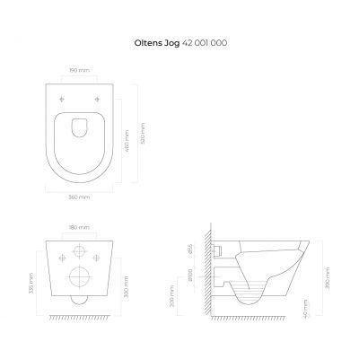 Miska WC 42001000 Oltens Jog