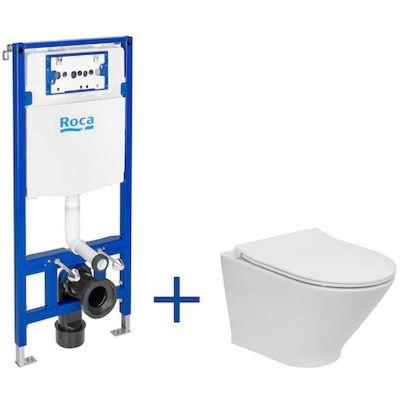 Zestaw WC stelaż + miska + deska A893104480 Roca Gap Round