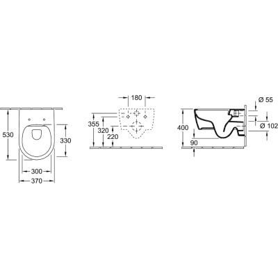 Combi-Pack zestaw z deską 5656RS01 Villeroy & Boch Avento