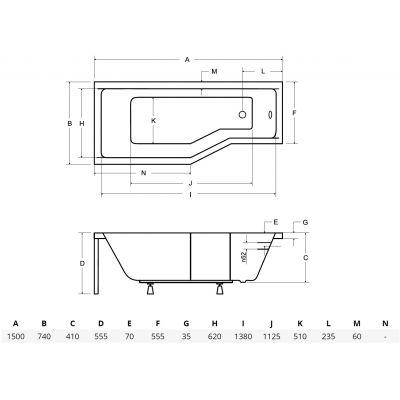 Wanna narożna 150x75 cm #WAI150PL Besco Integra