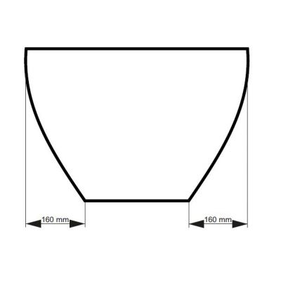 Wanna wolnostojąca 160x70.6 cm #WMD160G Besco Goya