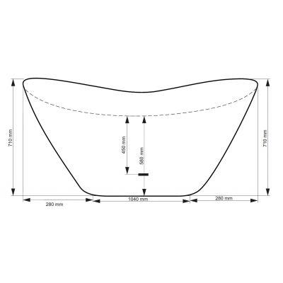 Wanna wolnostojąca 160x70 cm #WMD160V Besco Viya