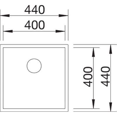 Zlewozmywak stalowy 44x44 cm 521558 Blanco Zerox 400-U